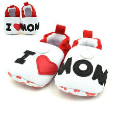 Infant Cute Baby Shoes I LOVE MOM Soft Soles Antiskid Walking Shoe for 0-12Month