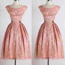 50s Vintage Lace Rockabilly Pinup Bridesmaid Evening Party Cocktail Floral Dress