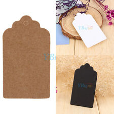 100PCS Fashion Kraft Paper Gift Tags Wedding Scallop Price Label Luggage 3 COLOR