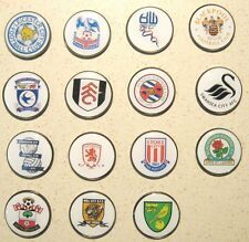 GOLF BALL MARKERS - CARDIFF, WATFORD,CRYSTAL PALACE, SOUTHAMPTON,LEICESTER