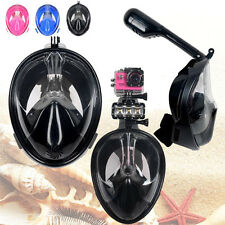 Swimming Full Face Mask Surface Underwater Diving Snorkel Scuba Swim S/M/L/XL
