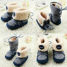 Toddler Kids Baby Snow Boots Soft Sole Warm Faux Fur Lined Boots Walking Shoes