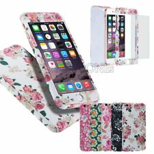 Ultra thin Hybrid 360° Hard  Case + Tempered Glass Cover For Apple iphone Models