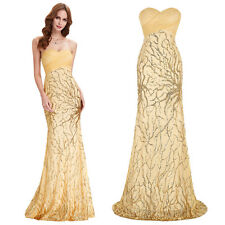 Sexy Luxury Sequined Long Ball Gown Evening Bridesmaid Cocktail Prom Party Dress