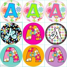 Set of 100  Precut MONOGRAM FLOWER ABC LETTERS Bottle Cap Images PICK UR DESIGN