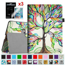 For Apple iPad Smart Leather Case Cover Wake/Sleep  + 3PCS Screen Protector