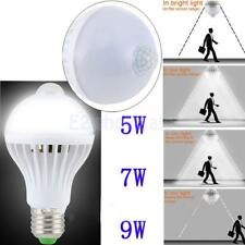 5W/ 7W/ 9W E27 LED PIR Motion Sensor Auto Lamp Bulb Infrared Energy Saving Light