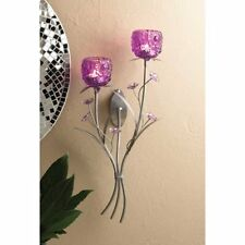 Fuchsia blooms candle wall sconce or candle holder U pick by Home Locomotion