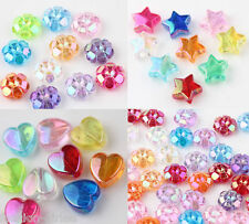 Lot 50/100X Acrylic Heart/Flower/Star Loose Spacer Bead Charm Jewelry Making DIY