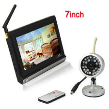 """2.4G Wireless 7"""" LCD Video Baby Monitor Camera Night Vision with Remote Control"""
