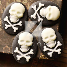 Resin Oval Skull Vintage Faltback Cabochon Cameo Wholeasle Lots Choose RB0681