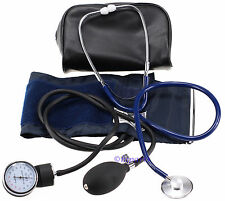 Manual Aneroid Sphygmomanometer Blood Pressure Monitor Cuff Stethoscope Adult
