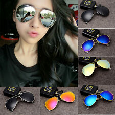 Fashion Women Men Glasses Unisex Vintage Retro Aviator Mirror Lens Sunglasses