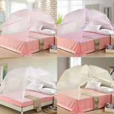 Foldable Zipper Bed Canopy Mosquito Net Tent Hut for Single Queen King Bed UK
