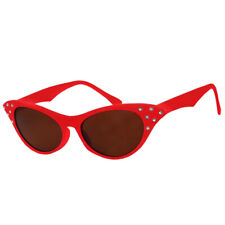 RED ADULTS 1950'S GLASSES LADIES FANCY DRESS ROCK N ROLL RETRO