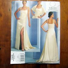 Vogue V1075 Chado Ralph Rucci Evening Gown and Stole Uncut FF Prom Dress Formal