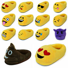 3D Emoji Stuffed Unisex Slippers Winter Home Indoor Cartoon Plush Slipper Shoes