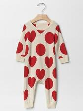 Baby Gap NWT White Red Heart Sweater Romper Newborn up to 7 lbs. 0-3 3-6 $40