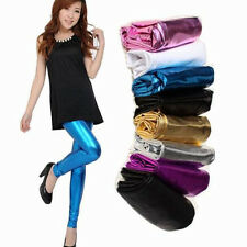 Candy Color Women Sexy Shiny Full Length Leggings Faux Imitation Leather Clothes