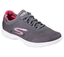 14211 Charcoal Gray Skechers Shoe Go Step Women Walk Mesh Athletic Comfort Light