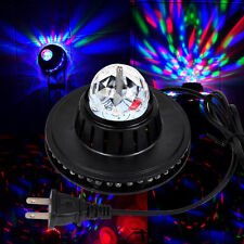 Colorful LED Crystal Rotating Stage Light RGB Lamp For DJ Party Voice-activated