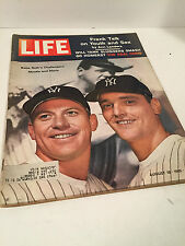 Vintage August 18, 1961 Mickey Mantle - Roger Maris Cover Life Magazine