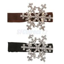 Shining Crystal Snowflake Head Band Hairpin Hair Barrette Clip Headwear