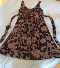 Beautiful Silk Dress From Monsoon . New And Unworn. Size 18.  Black And Bronze.