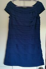 French Connection Pennys Party Dress Blue size 10