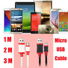 1/2/3M Micro USB 2A Data Sync Quick Charger Thick Cable Cord For Cell Phones Lot