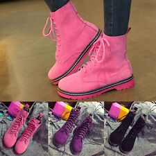 Womens Increase High Heel Booties Ankle Lace Up Boots Martin Boots Casual Shoes