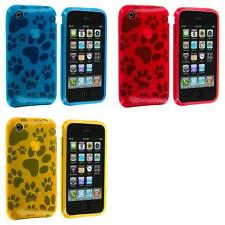 Dog Paw TPU Color Rubber Skin Case Cover for iPhone 3G S 3GS