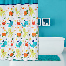 Cute Shower Curtain Bathroom Decor Mildew Proof Print Fish Animal Tortoise