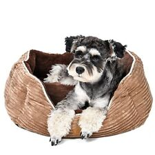 Pet Dog Beds Puppy Cat Corduroy House Durable Cushion Kennel Warm Bed Pad  Nest