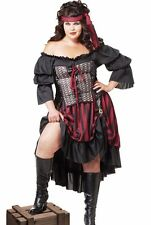 Sexy Pirate Wench Costume Adult Female Buccaneer  - Plus Size XL 2XL 3XL