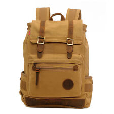 Fashion Middle School Students Canvas Travel Satchel Shoulders Bag Backpack New