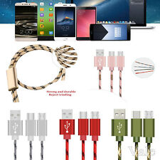 2A High Speed USB 2.0 to Type C 3.1 Micro USB Data Charge Cable 2 in 1 Combo Lot