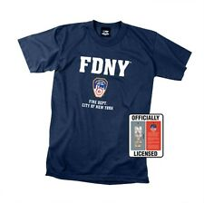 Officially Licensed FDNY T-Shirt Firefighter Fire Department New York Blue