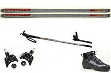 NEW Metal Edge XC cross country 75mm SKIS/BINDINGS/BOOTS/POLES PACKAGE -177cm
