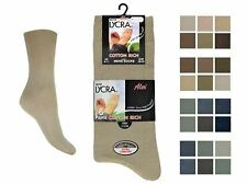 Mens 6 Pack Aler Cotton Lycra Socks With Purista - Style 1030