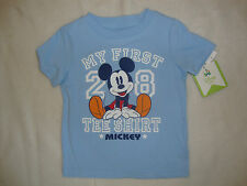 "DISNEY MICKEY MOUSE ""MY FIRST MICKEY TEE SHIRT"" NWTS PERFECT FOR DISNEY HOLIDAY"