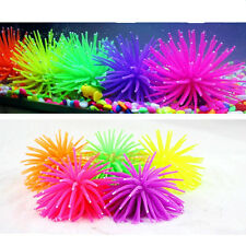 Artificial Coral Silicone Fish Tank Aquarium Decor Underwater Plant Ornament NEW