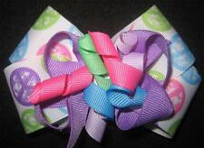 Peace Sign Boutique Hair Bow Korker Girls Baby Pastel Hairbows Lavender Pink