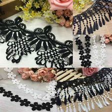 1/2Yard DIY Bridal Lace Trim Ribbon For Wedding Dress Embroidered Sewing Craft
