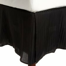 One Bed Skirt/valance 100% Egyptian Cotton 15 Inch Drop 1000 TC Black Stripe