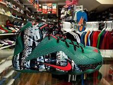 PRE OWNED NIKE LEBRON 12'S CHRISTMAS SIZE 7Y SNEAKERS AUTH GREEN HYPER PUNCH