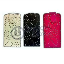 BLING DIAMOND GEM LEATHER FLIP CASE POUCH COVER FOR SAMSUNG GALAXY S4 i9500