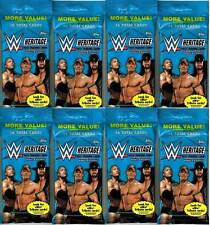 (8) 2015 Topps WWE HERITAGE 30th Wrestling Trading Cards 16 ct. JUMBO Pack LOT