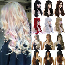 Lady Wig Long Curly Straight Full Hair Wigs Cosplay Party Fancy Dress UK Seller