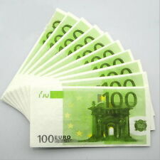 100 PCS €100 Euros Note Novelty Money 3 Ply EU Printed Tissues / Napkins Z